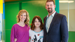 CAR T-cell patient Emily and family